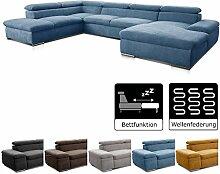 Cavadore Wohnlandschaft U-Form Alkatraz / XXL Sofa