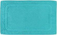 Cawö Badematte 201 - Größe: 50x80 cm - Farbe: türkis - 430