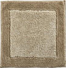 Cawoe BADTEPPICH Sandfarben 60/60 cm , Streifen,