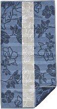 Cawö Handtuch 1 50x100 cm, Handtuch, Floral blau