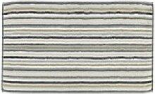 Cawöe Duschvorleger Lifestyle Streifen in kiesel,