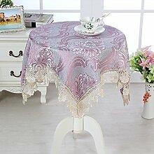 cbgvb Stoff, Blumen-Design, Tisch-Dekoration, Mehrzweck-Handtuch, violett, 105x105cm(41x41inch)