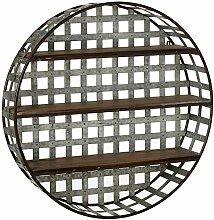Cbk 157930 Wandregal aus verzinktem Metall, rund