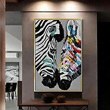 cbVdfhndsgv Zebra Leinwand Wandkunst Mode Moderne