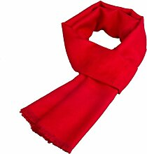 CCAILIS Männer Und Frauen Herbst Und Winter Schal Englisch Wind Im Freien Paar Modelle Schal Warm Geschenk,Red-OneSize