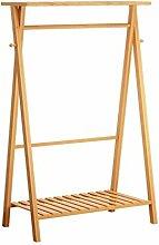 Ccanju Kleiderständer Garderobe, Bambus Einfach,