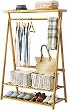 Ccanju Kleiderständer Garderobe Bambus Simple