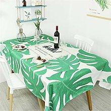 CCBAO Rechteckige Tischdecke Mit Grünem