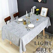 CCBAO Reine Farbe Tischdecke, Polyester