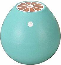 CCCREM Cool Spray Luftbefeuchter Grapefruit 400ML Portable Diffusor USB LED Nachtlicht Ultraschall Mini Mute Safe Power Off , blue
