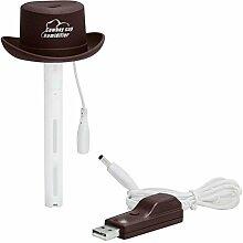 CCCREM Cowboy Hut Luftbefeuchter Creative Cap Diffusor Persönliche Mini Portable Flasche Aromatherapie Maschine USB Sprüher Auto Büro Reise , Brown