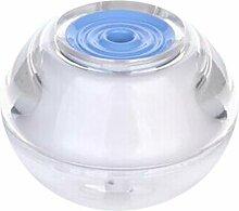 CCCREM Crystal Lamp Luftbefeuchter 80ml LED Lampe Runde Spray USB Große Kapazität Luft Diffusor (blau) Home School Hotel Yoga Spa