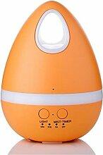 CCCREM Farbe Ei-förmigen Luftbefeuchter 200ml LED7 Farbwechsel Nachtlicht Mini Drop-Shaped Ultraschall Aroma ätherisches Öl Diffusor Anti-Trocken Automatik Power Off , Orange