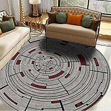 CCDZ Kinder-Spielplatz-Teppich Prinz rund für