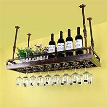 CCJW Decke Weinregale Eisen Weinglas Rack Becher