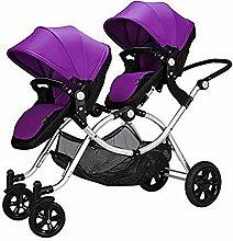 CCJW Doppel-Twin-Kinderwagen, Tragbares