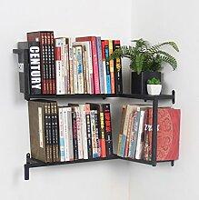 CCJW Eisen Wandbehang Kreative Bücherregal,