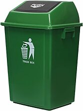 CCJW Große Mülleimer Kunststoff, Outdoor Flip