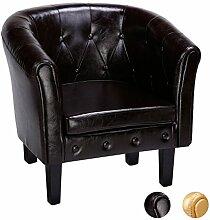 CCLIFE Chesterfield lounge Sessel - Klassisches Design Mit Hochwertige Qualität Für Wohnzimmer, Esszimmer, Büro, 2 jahre Garantie, Farbwahl, Farbe:Braun