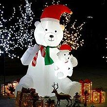 CCLIFE Led Schneemann Beleuchtet Aufblasbar