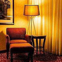 CCLIFE Modern Stehlampe LED Holz Standleuchte