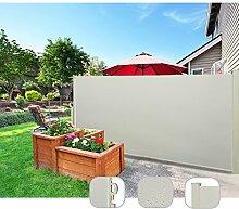 CCLIFE Seitenmarkise Ausziehbar Sichtschutz Windschutz Sonnenschutz Farbauswahl/Großauswahl, für Balkon Terrasse Garten, Tüv Geprüft, Farbe:Beige, Größe:180x300cm