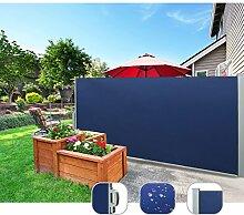 CCLIFE Seitenmarkise Ausziehbar Sichtschutz Windschutz Sonnenschutz - Diverse Farben und Größen, Farbe:Blau, Größe:200x300cm