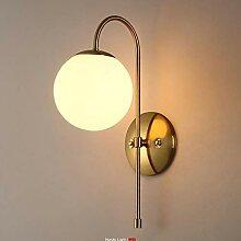 Cclight Vintage Globus Glasschirm Wandleuchte,