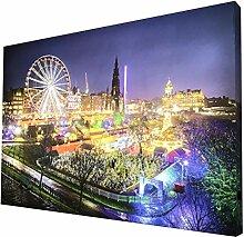 CCRETROILUMINADOS Leuchtbild Edinburgh mit