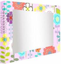 ccretroiluminados lila Spiegel mit Licht für Kinderzimmer, Acryl, mehrfarbig, 100x 5.3x 80cm