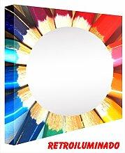 CCRETROILUMINADOS. Spiegel beleuchtet rund Kinderzimmer. Flanellhemden (90_x_60_cm)