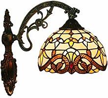 CCSUN E27 Tiffany-stil Wandleuchte, Kreativ Glas