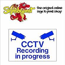 CCTV Recording in Progress Schild aus Aluminium