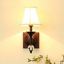 CCYYJJ Wandleuchte, Amerikanische Wandleuchte Kreative Wohnzimmer Schlafzimmer Bett Single Head Lamp Mode