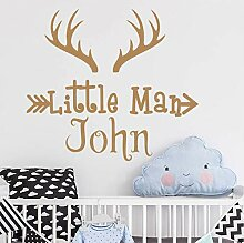 Cczxfcc Personalisierte Name Deer Horns Wand