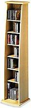 CD DVD Blu Ray Regal Standregal JOY, im Dekor Buche mit 7 Fächern