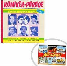 CD Komiker Parade I | GRATIS DDR Geschenkkarte | Ossi Produkte | Geschenkidee für alle Ostalgiker aus Ostdeutschland | DDR Geschenke