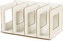 CD Ständer, WOLFBUSH CD DVD Ständer Regal CD Storage Shelves - Weiß