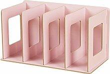 CD Ständer, WOLFBUSH CD DVD Ständer Regal CD Storage Shelves - Rosa