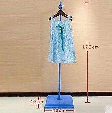 cdbl-Eisenbekleidung Regale Bekleidungsgeschäft Display Stand, Kinder auf der Wand Kombi Kleidung Regale, Kinderbekleidung Lager Regale, Kleiderbügel Hanging Side Hanging Floor Kleiderhaken ( Farbe : 2* )