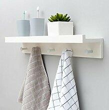 cdbl-Eisenbekleidung Regale Creative Coat Racks Wand Hanging European Style Kleiderbügel Wand Kleider Haken Wohnzimmer Regal Hook Up Kleiderhaken ( Farbe : B , größe : L61.5*w12*h8cm )