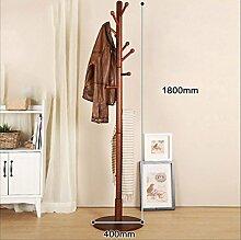cdbl-Eisenbekleidung Regale Kreatives Holz Wohnzimmer Schlafzimmer Kleiderständer Hut Stand Indoor Boden-Standing Kleider Racks Kleiderhaken ( Farbe : A , größe : 40*180CM )