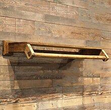 cdbl-Eisenbekleidung Regale Wandbekleidung hängende Regal / Wand Kleiderständer / einfache Persönlichkeit Massivholz Kinderbekleidung Regale Wandkleiderständer ( größe : L100cm*w30cm )