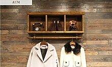 cdbl-Eisenbekleidung Regale Wandbekleidung hängende Regal / Wand Kleiderständer / einfache Persönlichkeit Massivholz Kinderbekleidung Regale Wandkleiderständer