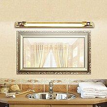 cdbl-Schminkspiegel Spiegel-vordere Lichter, europäische Art LED-Lichter, modernes einfaches wasserdichtes Anti-fog Badezimmer-Spiegel-Scheinwerfer, Verfassungs-Lichter Spiegelfrontlicht ( Farbe : Silber-8w60cm )