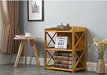 Cdbl-Wand Bücherregal Bücherregal / Multifunktionales Regal / Massivholzboden Bambus Regal / Tisch Einfache Moderne Student Bücherregal Regal ( größe : L62cm*w29cm*h60cm )