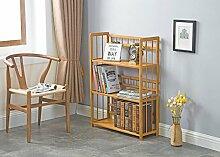Cdbl-Wand Bücherregal Bücherregal / Multifunktionales Regal / Massivholzboden Bambus Regal / Tisch Einfache Moderne Student Bücherregal Regal ( größe : L60*w26*h100cm )
