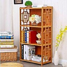 Cdbl-Wand Bücherregal Bücherregal / Multifunktionales Regal / Massivholzboden Bambus Regal / Tisch Einfache Moderne Student Bücherregal Regal ( größe : L62*w29*h100cm )
