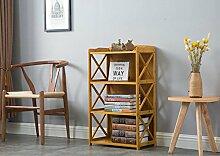 Cdbl-Wand Bücherregal Bücherregale / Regale / Massivholzboden Bambus Bambus Regal / Tisch einfache moderne Student Bücherregal Rack Regal ( größe : L62cm*w29cm*h86cm )