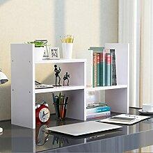 Cdbl-Wand Bücherregal einfacher Desktop Shelf Kreatives Bücherregal Auf dem Tisch Regal Einfacher moderner Schreibtisch Incorporated Kleine Bücherregale Regal ( Farbe : 3* , größe : H46.5*W17CM )